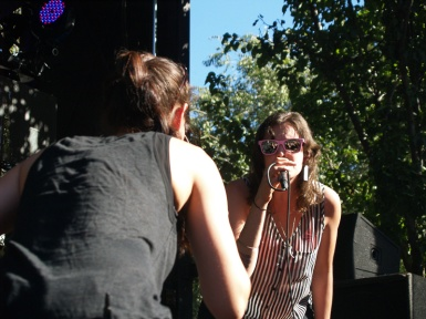 Aby Wolf and Dessa. LAUNCH 2013. Photo Kate Gonzales
