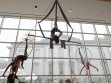 Look at the performers of Aerial Evolution fly! Photo by Ryan Stewart