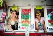The Frickle (Fried Pickle) girls in costume at the 2014 Lagunitas Beer Circus in Petaluma CA. Photo Melissa Uroff