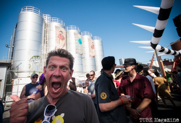 Loren Swartos enjoying himself very much at the 2014 Lagunitas Beer Circus held in Petaluma CA. Photo Melissa Uroff