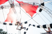 The Vau de Vire Society, $hredder, performing aerial acts at the 2014 Lagunitas Beer Circus in Petaluma CA.