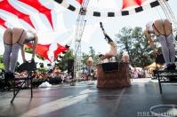 The Vau de Vire Society performing ariel acts at the 2014 Lagunitas Beer Circus in Petaluma CA.