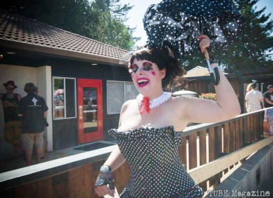 In costume at the 2014 Lagunitas Beer Circus in Petaluma CA. Photo Melissa Uroff