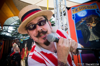 The ringleader of The Moral Minority stage at the Lagunitas Beer Circus in Petaluma CA. Photo Melissa Uroff