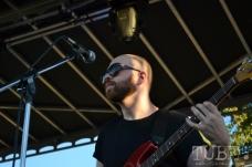 Sacramento TBD Fest 2014. The bassist of French Horn Rebellion. Photo Ryan Stewart.
