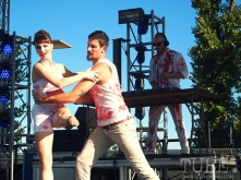 Sacramento TBD Fest 2014. The Sacramento Ballet giving D.A.M.B. bloody good visual accompaniment. Photo Sarah Elliott.