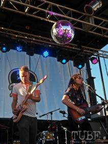 Sacramento TBD Fest 2014. Cold Eskimo under the disco ball. Photo Sarah Elliott