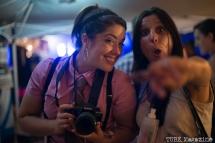 Allison Robideaux and Naomi Lucchesi at the Mustache Run photo booth. Sacramento TBD Fest 2014. Photo Melissa Uroff