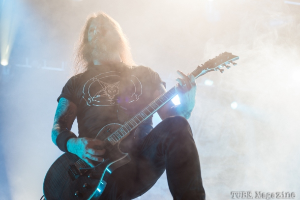 Guitarist from Slayer, Gary Holt. Fox Theater. Oakland CA. 2014 Photo Melissa Uroff
