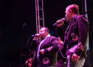 The lead singers of Banda Tierra Azteca. Photo Alejandro Montaño.