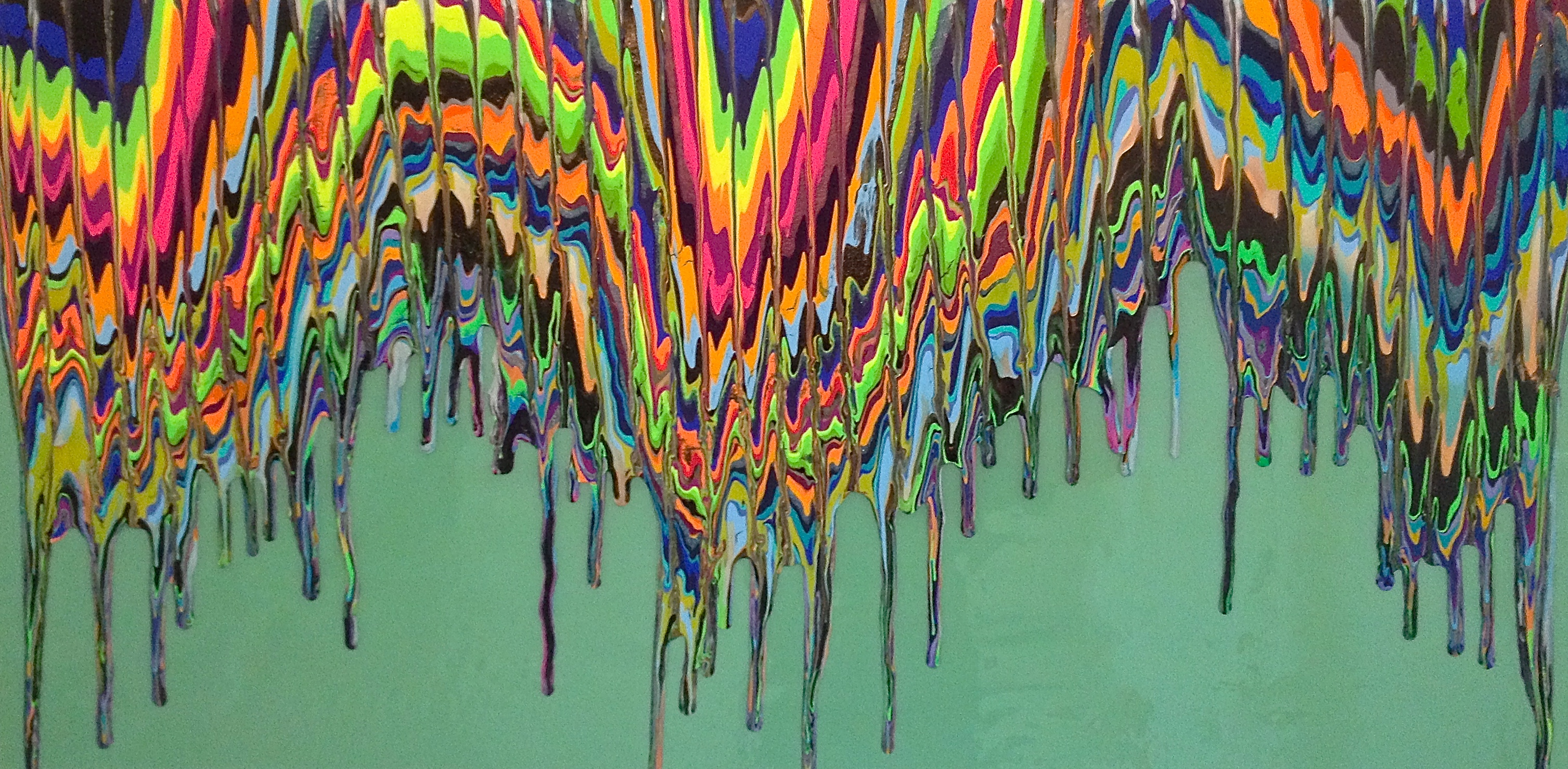 Epoxy Painting Canvas : Shrill colors and mixed layers a word with paola gracey