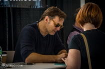 David Morrissey aka The Governor signing autographs from TWD