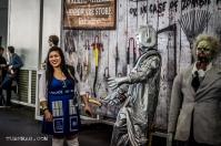 Doctor Who Fan with Cyberman Display