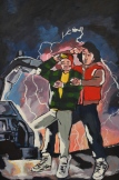 "Bill and Ted travel Back to the Future in style for the March themed art show ""Cinema"" at the Contemporary Dance Conservatory."