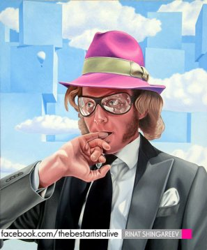 Lapo Elkann by Rinat Shingareev. Oil on Canvas.