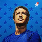 Mark Zuckerberg by Rinat Shingareev. Oil On Canvas