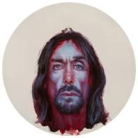 Iggy Pop by John Wentz Oil on vinyl record.