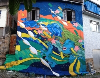 Mural in Rio de Janero for Google by Bicicleta Sem Freio