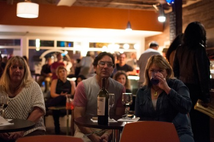 Spectators enjoying a drink and the show at Shine in Sacramento CA. 2015. Photo Emma Montalbano.