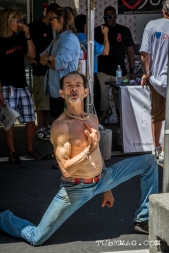 Kenny the Dancing man is always where the music is at Sac Pride 2015, Photo Sarah Elliott