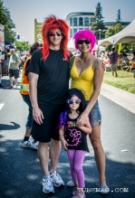 Awesome family busts out thier wigs for Sac Pride 2015, Photo Sarah Elliott