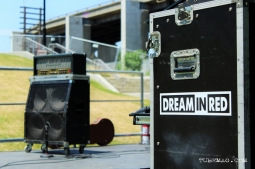 Sacramento First Festival 2015. Dream In Red stage setup. Photo Emilie Wheaton
