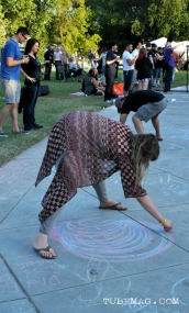 Live Chalk Art Sacramento First Festival 2015. Photo Emma Montalbano.