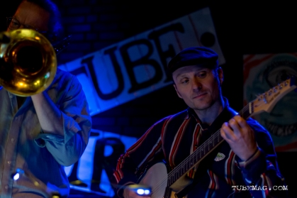 Sour Mash Mug Band playing at the TUBE. Circus on May 15, 2015, at the Blue Lamp in Sacramento CA. Photo Sarah Elliott.