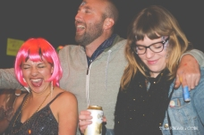 Kate Gonzales, John Klaiber and Jenn Ponci having a blast at the TUBE. Circus at the Blue Lamp. Sacramento CA. May 15, 2015. Photo Sarah Elliott.