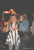 Melissa Uroff and Jenn Ponci dancing at the TUBE. Circus at the Blue Lamp in Sacramento CA. May 15 2015. Photo Sarah Elliott.