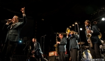 The Mighty Mighty Bosstones on stage at the 17th Annual Punk Rock Bowling Festival in Las Vegas Nevada, May 2015. Photo Melissa Uroff