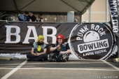 Punk Rock Bowling patrons hanging out on the festival grounds. Las Vegas Nevada. May 2015. Photo Melissa Uroff.