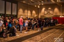 The waiting lines for Billie Piper photo ops. Sacramento Wizard World Comic Con 2015. Photo Sarah Elliott