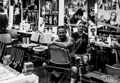 Tattoo both at Sacramento Wizard World Comic Con 2015. Photo Sarah Elliott