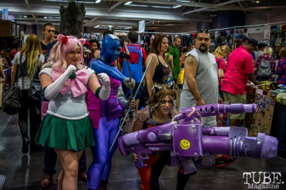 Gaurdians of the Galaxy and other Cosplayers. Sacramento Wizard World Comic Con 2015. Photo Sarah Elliott