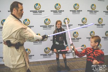 Star Wars family cosplay. Sacramento Wizard World Comic Con 2015. Photo Sarah Elliott