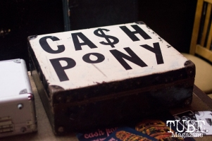 Cash Pony Merchandise at Cafe Colonial in Sacramento, CA. August 2015. Photo Alejandro Montaño