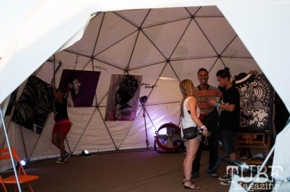 Art Battle tent at TBD Fest in Sacramento, Ca. September 2015. Photo Heather Uroff
