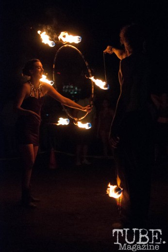 Fire Spinners at TBD Fest in Sacramento, Ca. September 2015. Photo Heather Uroff