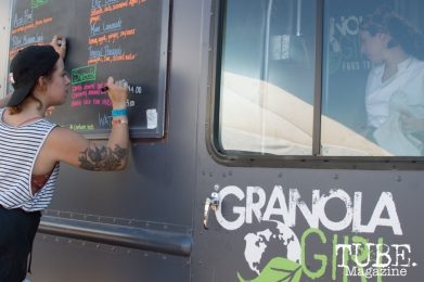 Granola Girl getting their menu ready for Sunday's festivities at TBD Festival in Sacramento, Ca. September 2015. Photo Alejandro Montaño