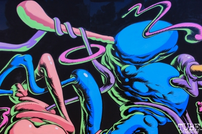 -Sacramento Artist, Waylon Horner and Jared Tharp's collaboration at TBD.September 20,2015. Photo Anouk Nexus