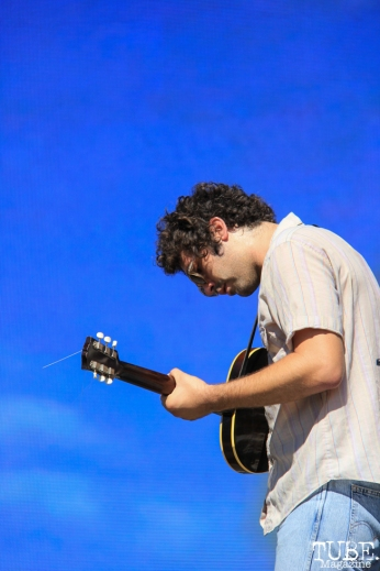 Allah-Las' singer/guitarist, Miles Michaud at TBD, Sacramento CA. September 20, 2015. Photo Anouk Nexus