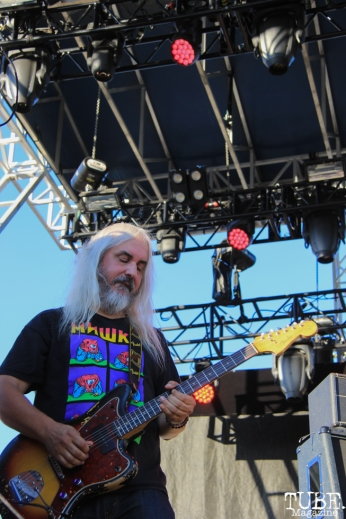 Dinosaur Jr's singer/guitarist, J Mascis at TBD, Sacramento CA. September 20, 2015. Photo Anouk Nexus