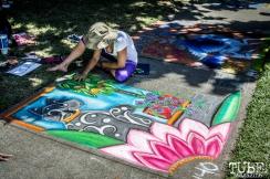 Art in progress, Chalk It Up, Sacramento 2015, Photo Sarah Elliott