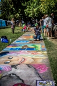 The long walk of art, Chalk It Up, Sacramento 2015, Photo Sarah Elliott