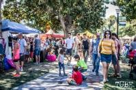 Festival goers walking through the vendor booths, Chalk It Up, Sacramento 2015, Photo Sarah Elliott