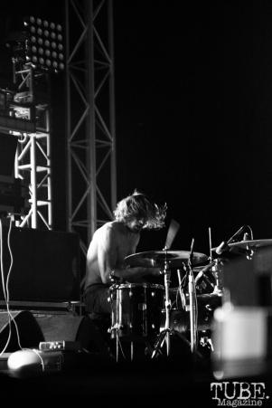 Drummer Zach Hill, Death Grips, TBD Fest, Sacramento, Ca 2015 Photo Sarah Elliott