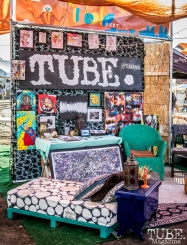 Our TUBE. booth at TBD Fest 2015. Sacramento CA. Photo Sarah Elliott