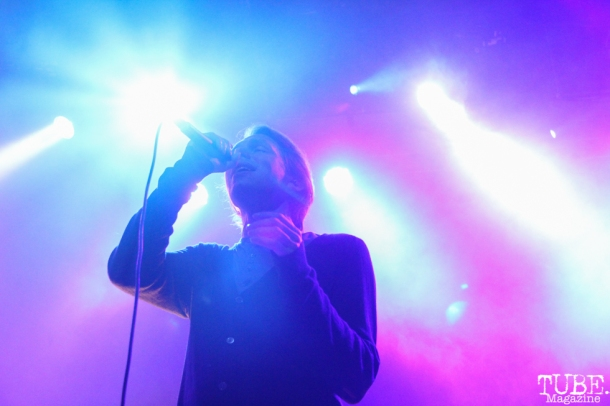 Singer of Mew, Jonas Bjerre, The Fillmore, San Francisco, CA. September 26, 2015. Photo Anouk Nexus