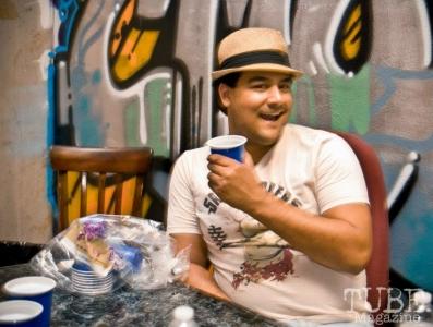 Matt Marrujo at his first venue, The Where House?. Sacramento CA August 2012 Photo Melissa Uroff